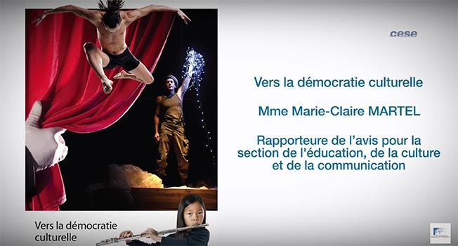 CESE: democratie culturelle saisine